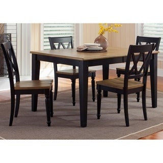 Al Fresco II Driftwood and Black Opt 5-piece Rectangular Table Set