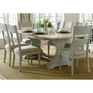 Harbor View III Dove Grey 7-piece Trestle Table Dining Set