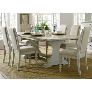 Harbor View III Dove Grey Opt 7-piece Trestle Table Dining Set