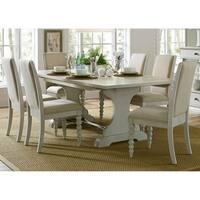 Harbor View III Dove Grey Opt 7-piece Trestle Table Dining Set
