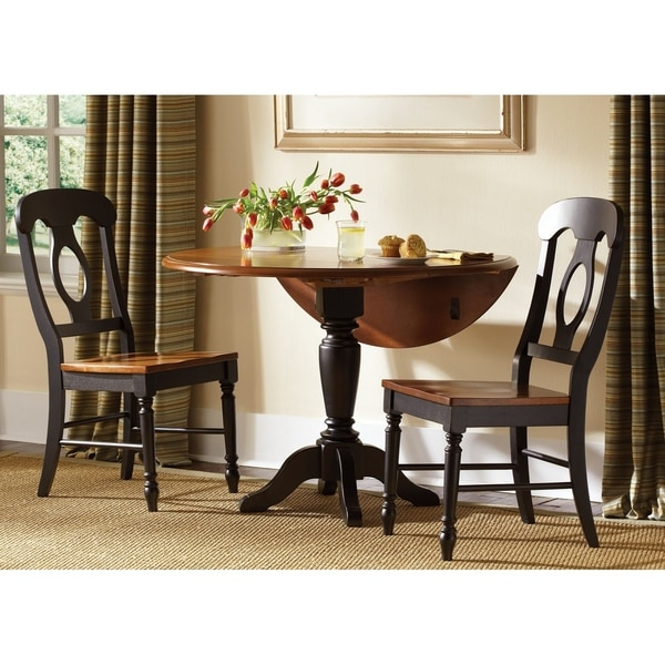 Dining Table Sets On Sale: Shop Low Country Anchor Black Opt 3-piece Drop Leaf Table