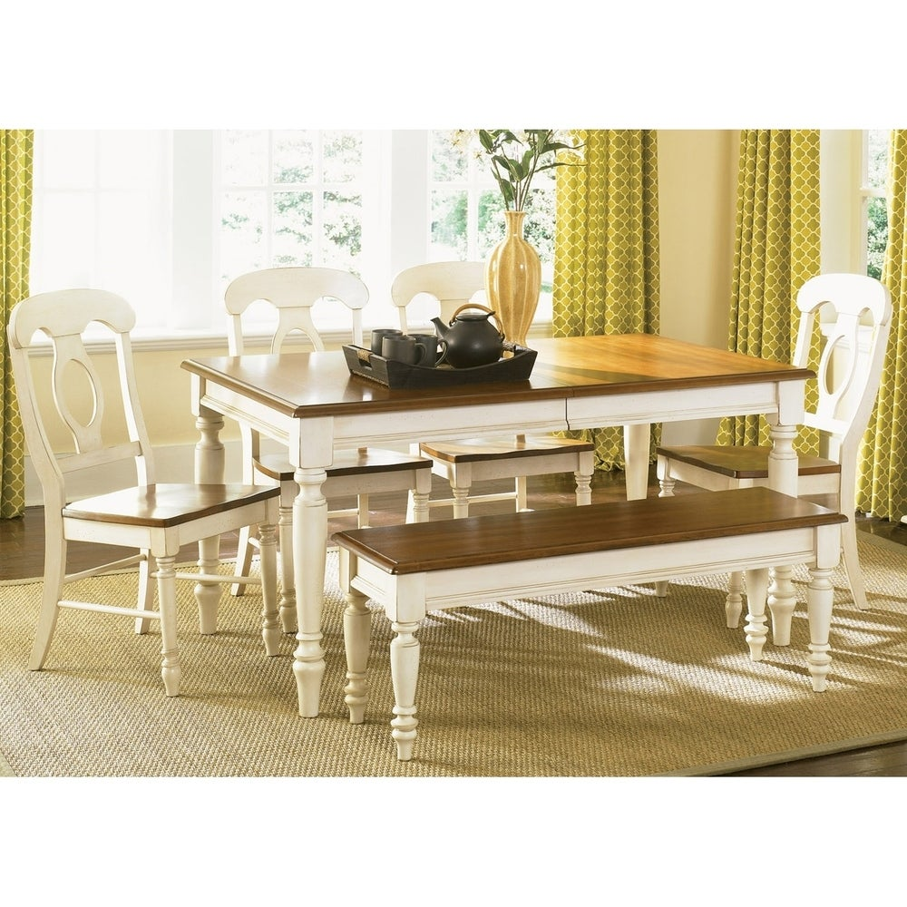 The Gray Barn Siufanua White 6 piece Rectangular Table Dining Set (Bronze)
