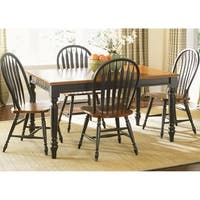 The Gray Barn Buttercup Hill Anchor Black 5-piece Windsor Back Rectangular Dining Set
