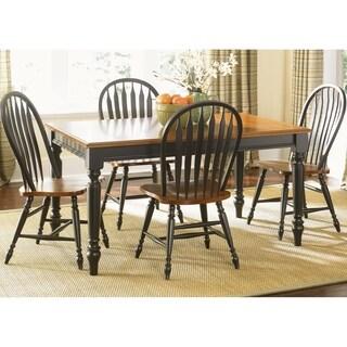 Low Country Anchor Black 5-piece Windsor Back Rectangular Dining Set