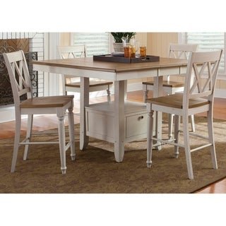 Al Fresco III Driftwood and Sand Opt 5-piece Gathering Dining Set