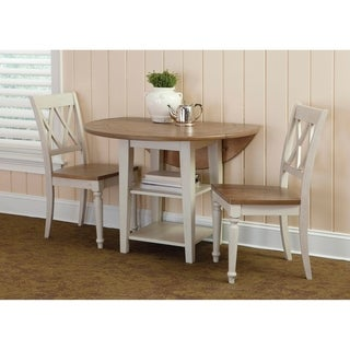 Al Fresco III Driftwood and Sand Opt 3-piece Drop Leaf Dining Set