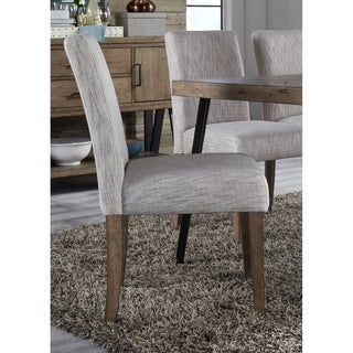 Horizons Rustic Caramel Upholstered Side Chair