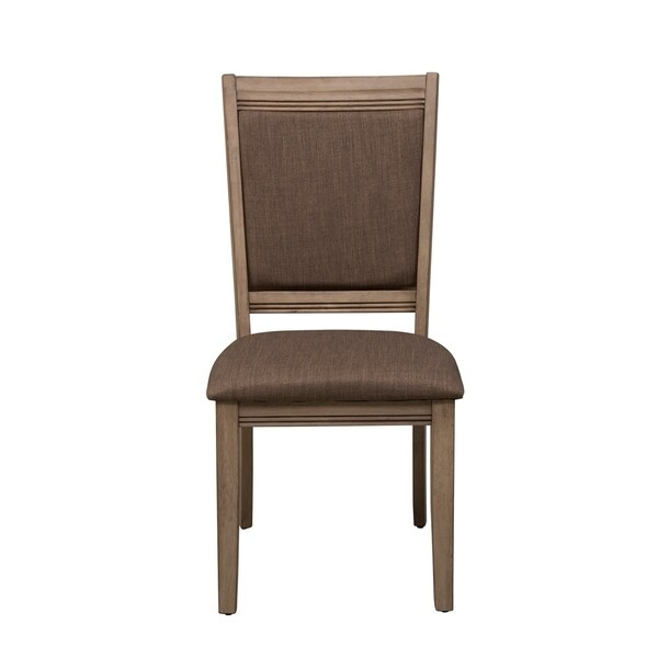 The Gray Barn Abbey Field and Grey Upholstered Side Chair (Set of 2)