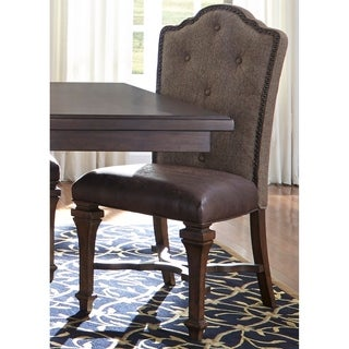 Lucca Cordovan Brown Upholstered Side Chair