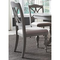 Summer House Dove Grey Decorative Slat Back Side Chair