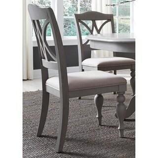 Summer House Dove Grey Decorative Slat Back Side Chair
