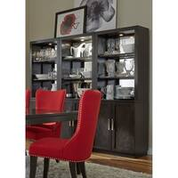 Platinum Satin Espresso Wall Unit