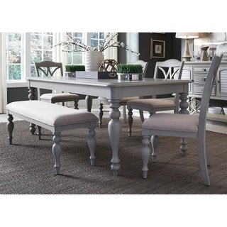 Summer House Dove Grey 6-piece Rectangular Table Set with Bench