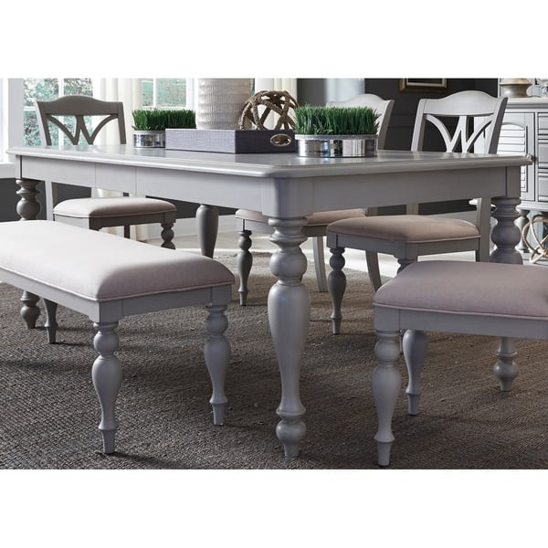 Brilliant Shop Summer House Dove Grey 6 Piece Rectangular Table Set Gmtry Best Dining Table And Chair Ideas Images Gmtryco