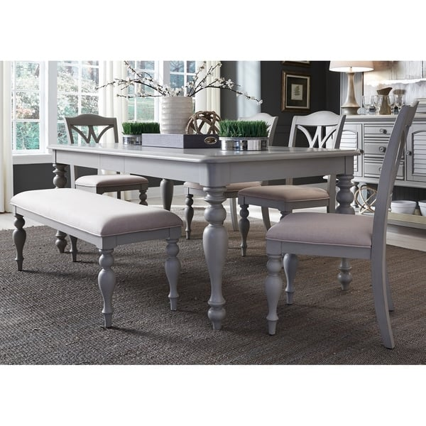 Sensational Shop Summer House Dove Grey 6 Piece Rectangular Table Set Gmtry Best Dining Table And Chair Ideas Images Gmtryco