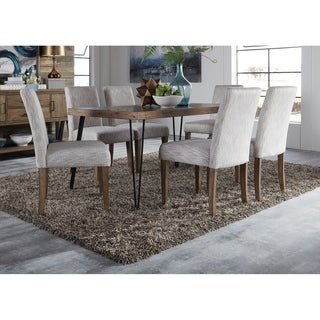 Liberty Horizons Rustic Caramel Rubberwood/Pine Veneers 7-piece Rectangular Table Set
