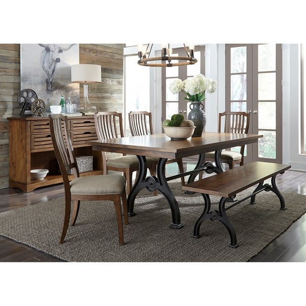 Shop Arlington House Cobblestone Brown Opt 6 Piece Trestle