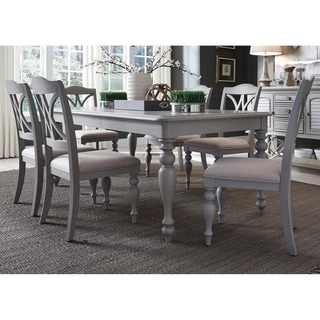 Summer House Dove Grey 7-piece Rectangular Table Set