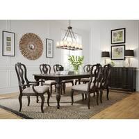 Chesapeake Wire Brushed Antique Black 7-piece Rectangular Table Set
