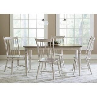 The Gray Barn Flintshire Tan Smoke and Antique White 5-piece Rectangular Table Set