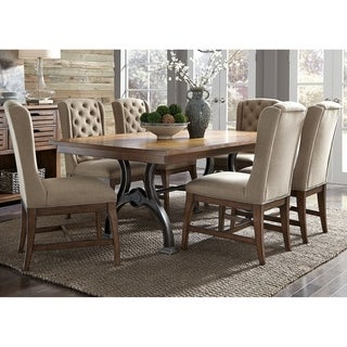 Liberty Arlington House Cobblestone Brown Wood 7-piece Trestle Table Set