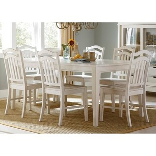 Summer Hills Rubbed Linen 7-piece Rectangular Table Set