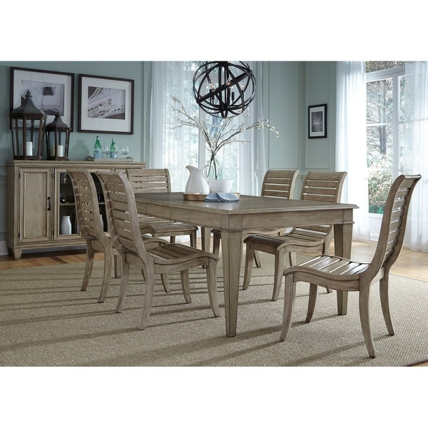 Discount Dining Room Sets Free Shipping: Shop Liberty Driftwood 7-piece Leg Dining Table Set