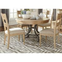 Harbor View Sand 5-piece Round Table Set