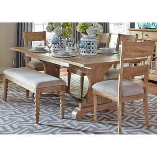 Harbor View Sand 6-piece Trestle Table Set