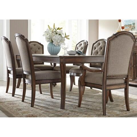Amelia Antique Toffee 7-piece Rectangular Table Set