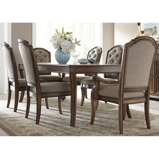 Amelia Antique Toffee 7-piece Rectangular Table Set