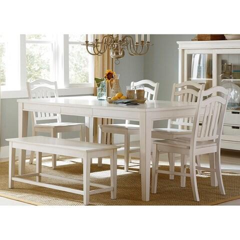 Summer Hills Rubbed Linen 6-piece Rectangular Table Set