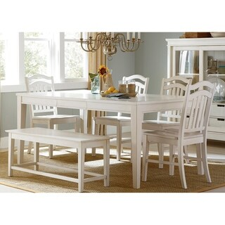 Summer Hills Rubbed Linen 6-piece Rectangular Table Set