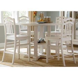 Summer Hills Rubbed Linen 5-piece Gathering Table Set