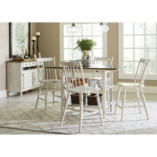 Oak Hill Tan Smoke And Antique White 5 Piece Gathering Table Set