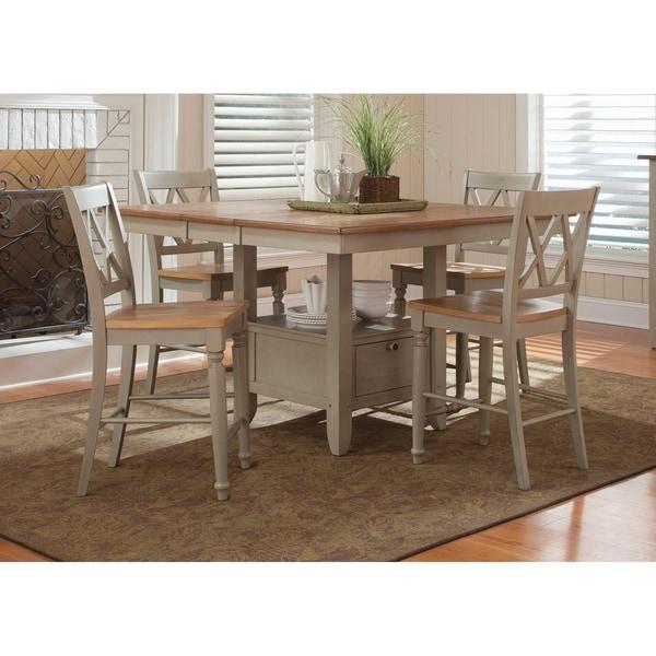 Al Fresco Taupe Opt 5-piece Gathering Table Set  sc 1 st  Overstock & Al Fresco Taupe Opt 5-piece Gathering Table Set - Free Shipping ...