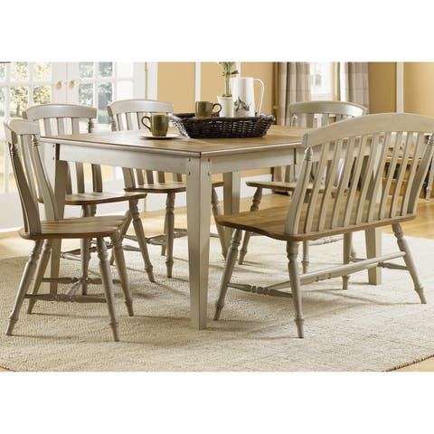 Al Fresco Taupe 6-piece Rectangular Table Set