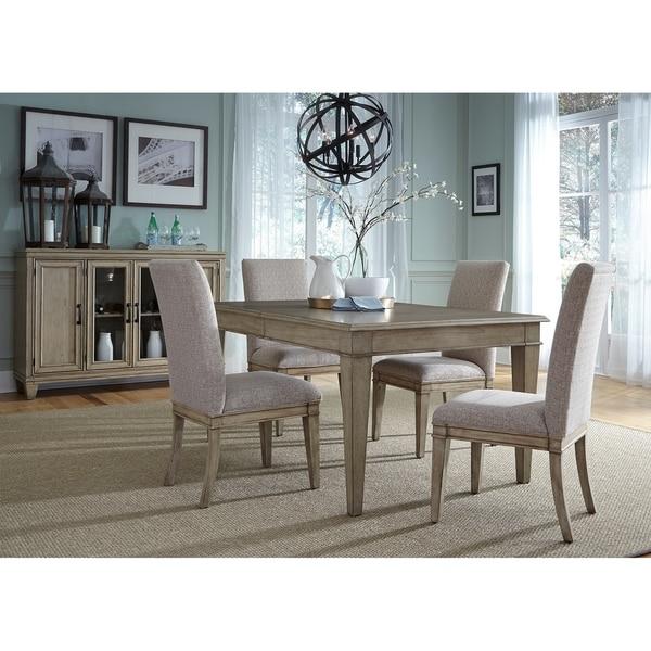 Grayton Grove Driftwood Opt Piece Rectangular Dining Table Set - Driftwood dining table set