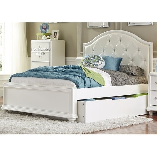 Stardust Iridescent White Trundle Bed
