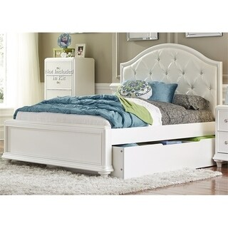 LIberty Stardust Iridescent White Trundle Bed
