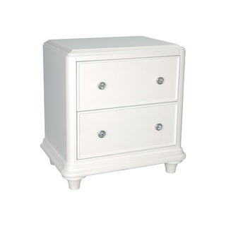Stardust Iridescent White 2-Drawer Night Stand