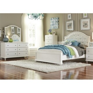 Liberty Stardust White Iridescent Panel Bed