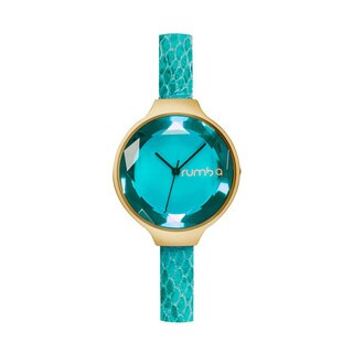 RumbaTime Women's 30mm Orchard Leather Exotic Watch