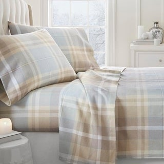 Merit Linens Premium Ultra Soft Plaid 4 Piece Flannel Bed Sheet Set (More options available)