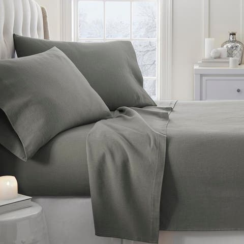 Merit Linens Premium 4 Piece Ultra Soft Flannel Bed Sheet Set
