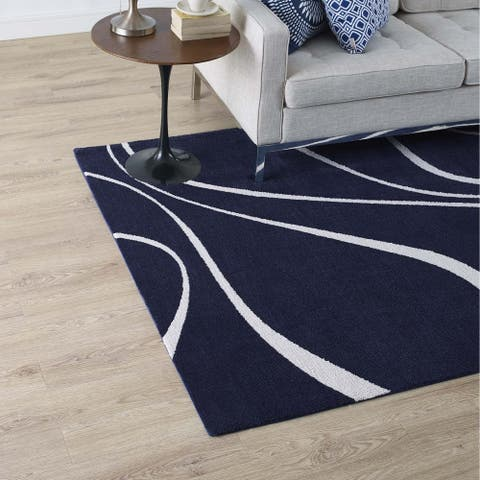 Therese Abstract Swirl Area Rug