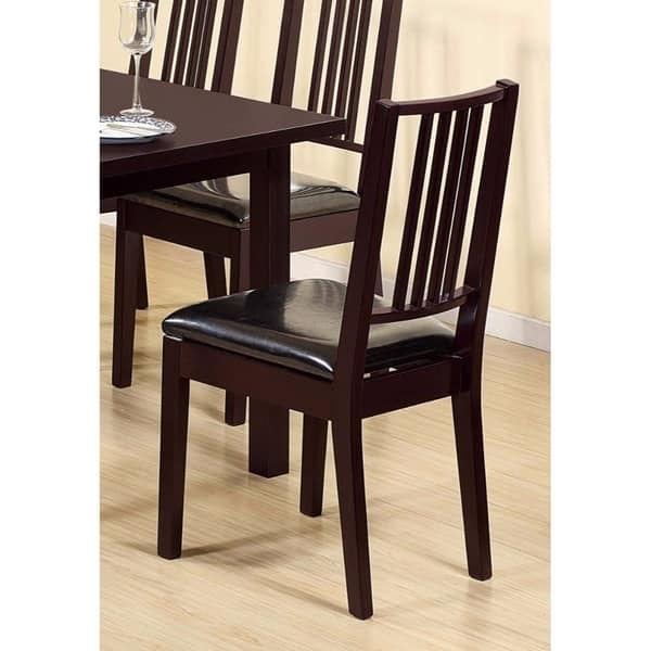 Shop Comfortable Dining Chair Set With Lustrous Finish Seat ...