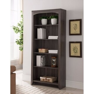 Elegantly Designed 5-Tier Bookcase, Gray