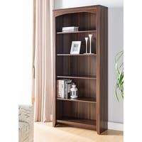 Prepossessing 5-Tier Bookcase, Brown