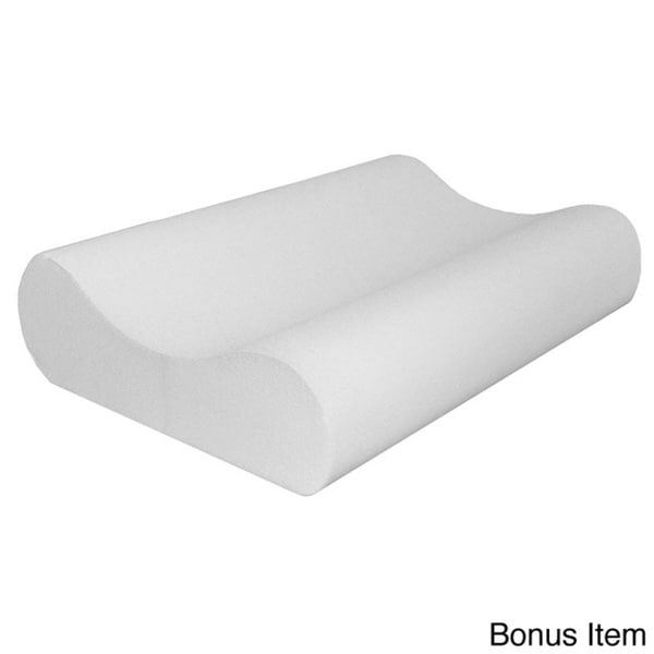 Comfort Dreams 4 Inch Memory Foam Mattress Topper With 2 Contour